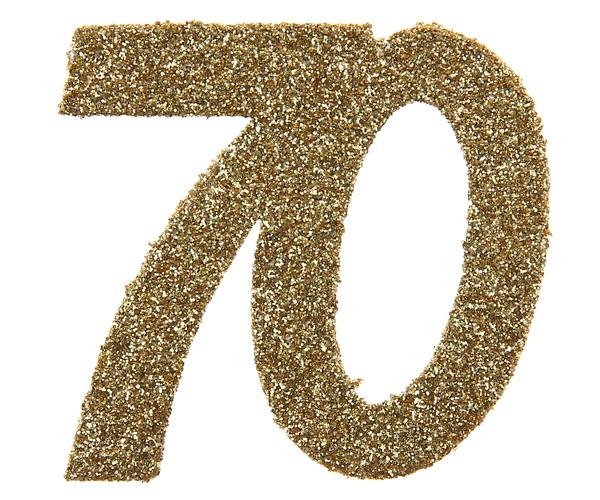 XL Geburtstag Konfetti 70 Jahre Santex gold
