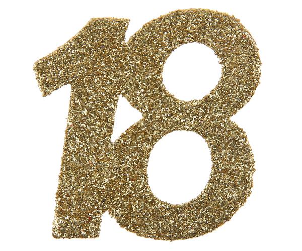 18. Geburtstag Party Konfetti in gold
