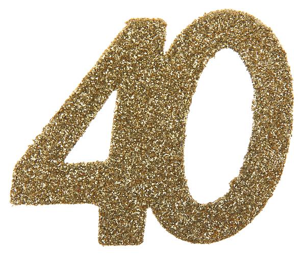 XL Geburtstag Konfetti 40 Jahre Santex gold