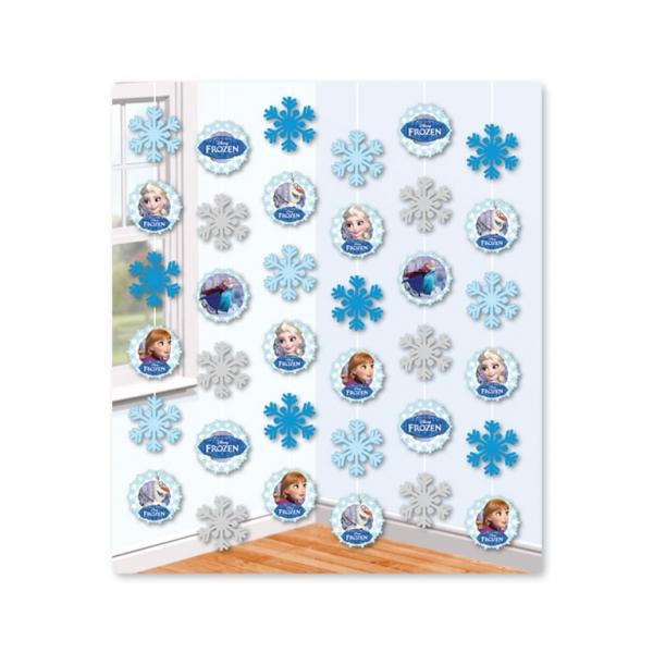 Frozen Ice 6 teilige Girlande frei hängend