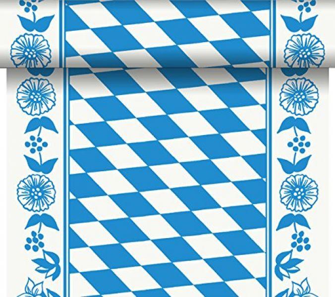 Duni Tischläufer Tete-a-Tete bayrische Raute 0,40 x 24,00 m
