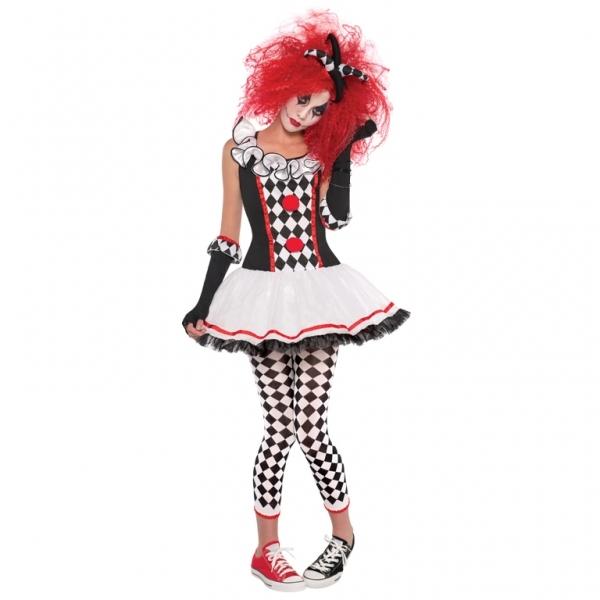 Mädchen Kostüm HARLEKIN Honig im Schachmuster 10 - 12 Jahre Gr. S