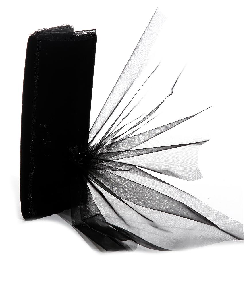 Dekostoff Organza 150 x 300 cm schwarz