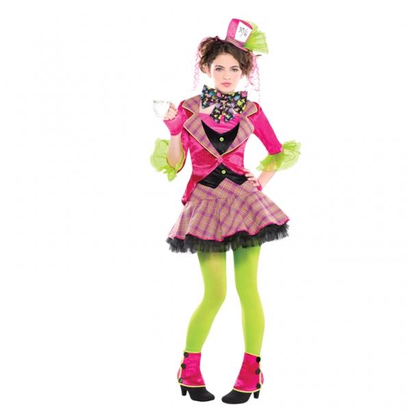 Mädchen Kostüm Der verrückte Hutmacher Gr.: 142-162 12-14 Jahre