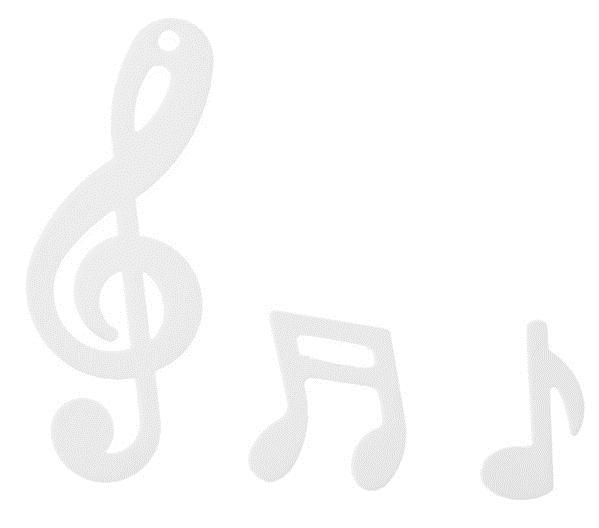 Notenschlüssel Musik Konfetti Streudekoration weiß