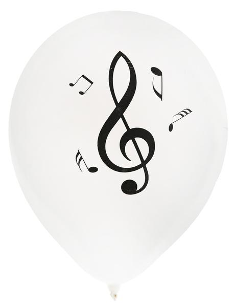 Luftballons Musik Notenschlüssel 8 Stück