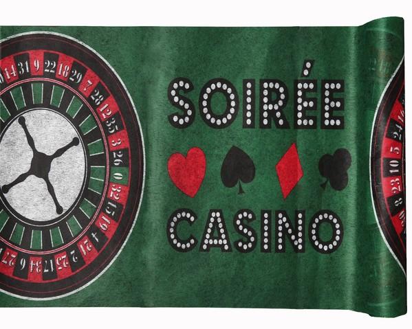 Tischband Tischläufer Casino Karten Poker