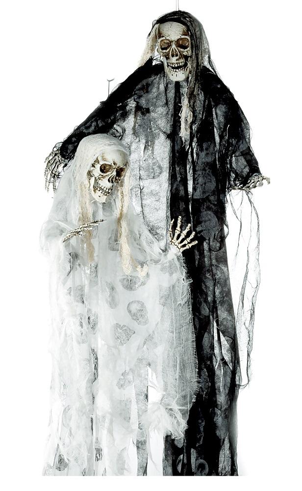 Die Braut und der Bräutigam hängende animierte Dekoration zu Halloween