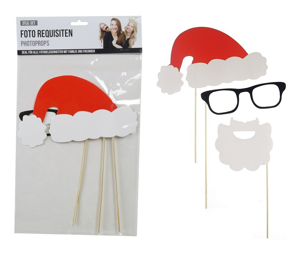 Photo Booth Requisiten Nikolaus 3tlg.
