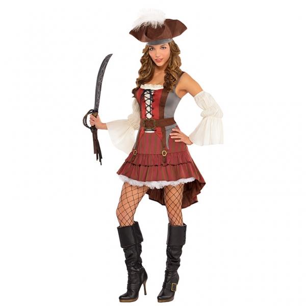 """Damen Kostüm """"Die Schiffbrüchige Piratin"""" Gr.: 34 - 36 S"""