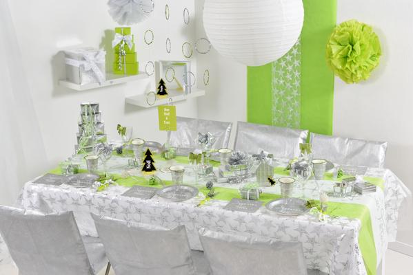 Tischtuch Tischdecke STERNE Sterne STERNE silber 145 x 250 cm