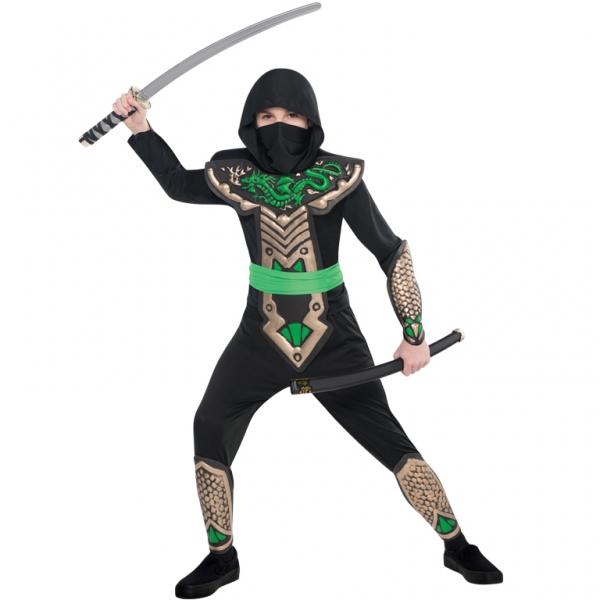 """Kinder Kostüm """"Der Drachen Ninja"""" Gr.: 110 - 122 / 4 - 6 Jahre"""