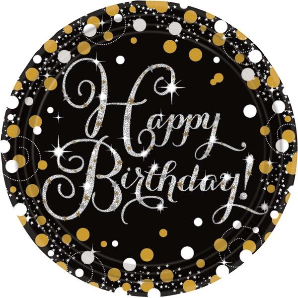 Party Teller Happy Birthday prismatisch