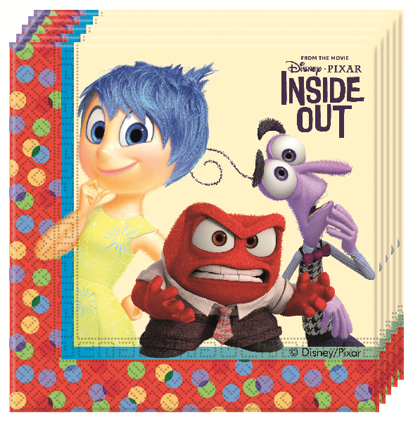Disney Alles steht Kopf - Inside Out Party Servietten