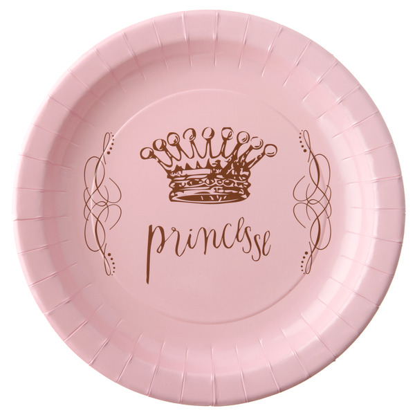 Prinzessinen Party Teller rosa