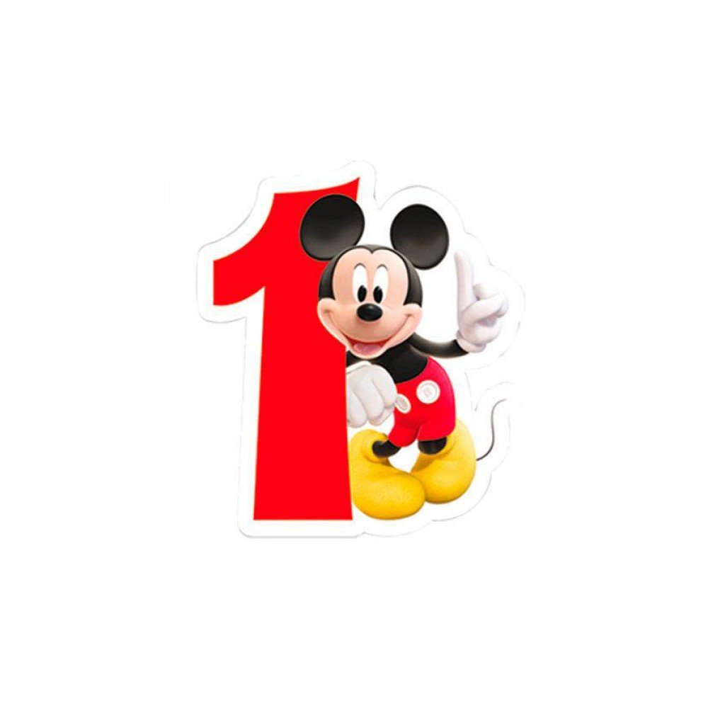 Playful Mickey Mouse 1. Geburtstag Zahlenkerze Geburtstagskerze