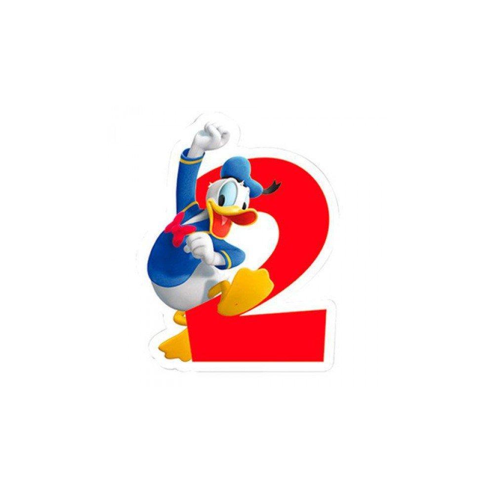 Playful Donald Duck 2. Geburtstag Zahlenkerze Geburtstagskerze