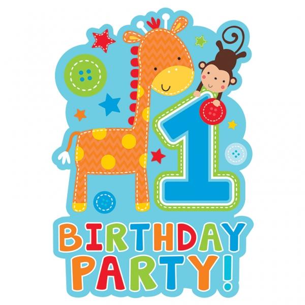 1. Geburtstag Jungen Wild Boy Party Einladungen