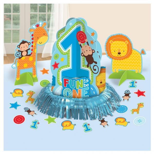 1 Geburtstag Jungen Wild Boy Party Tisch Deko Set