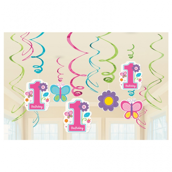 Party Swirl Girlande Sweet Birthday Girl