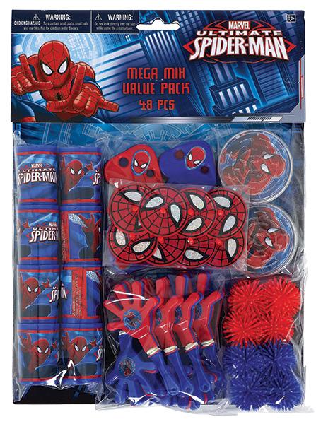 Spiderman Mitgebesel Gastgeschenke 48 teilig