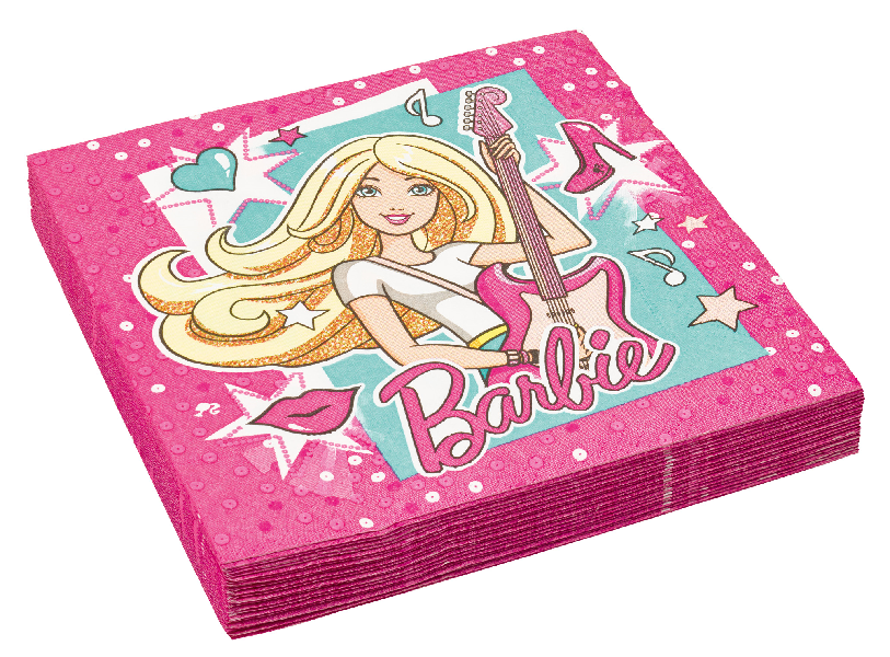 Party Servietten Barbie Popstar