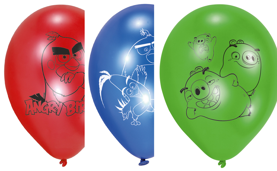 Angry Birds Party Luftballons zum Kinofilm