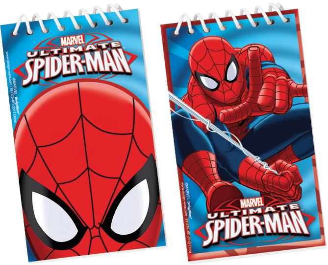 Spiderman Notizblöcke Mitgebsel Gastgeschenke