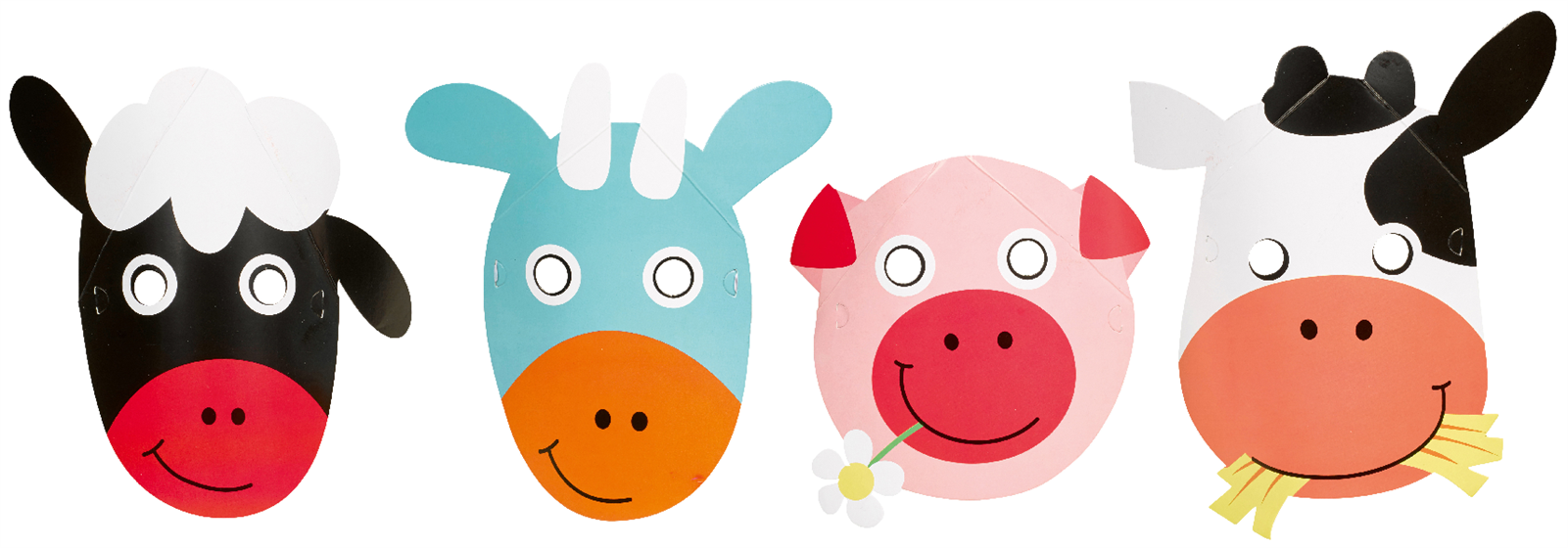Party Masken Der kleine Bauernhof / Farm Fun