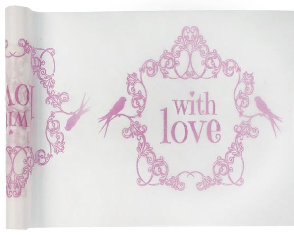 Tischband Tischläufer einfach mit Liebe rose Vintage 0,30 x 5,00 m