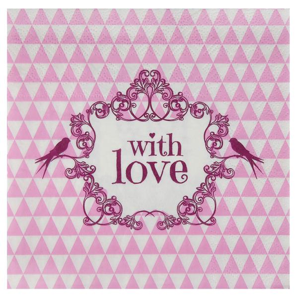 Party Servietten einfach mit Liebe rose Vintage 20 Stück