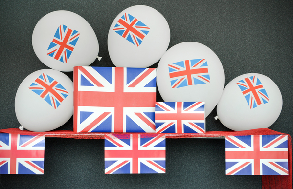 Party Luftballons England 8 Stück