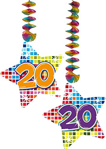20. Geburtstag Party Rotor Spiralen bunt
