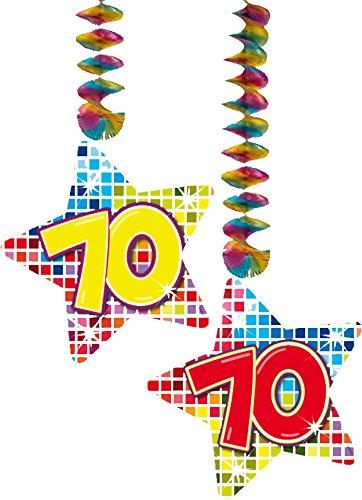 70 Jahre Geburtstag Deko Swirl Girlande Folat