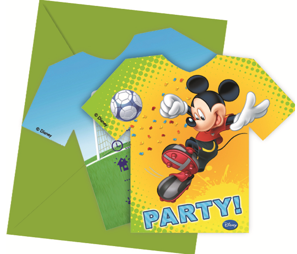 Disney Mickey Mouse Goal Fußball Party Einladungen