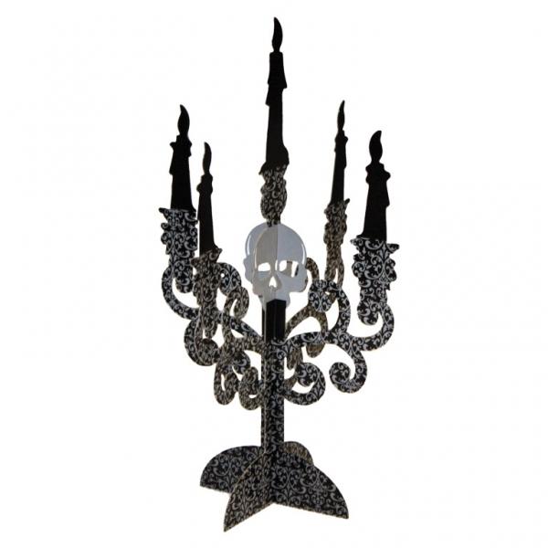 Tisch Dekoration  2  5armige Kerzenständer schwarz