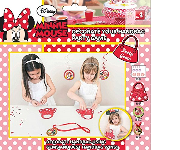 """Kindergeburtstag Minnie Mouse Disney Partyspiel """"Bastel deine eigene Handtasche"""""""