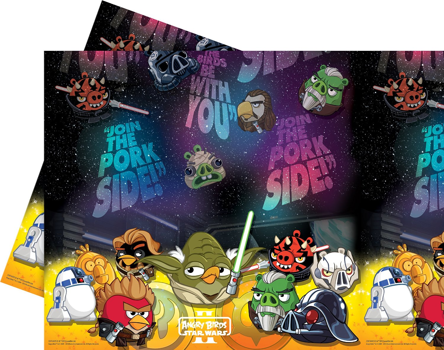 Star Wars / Angry Birds Party Tischdecke