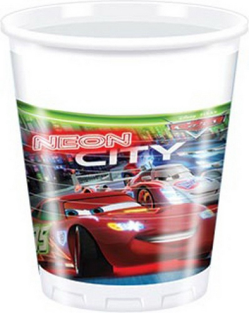 Cars Neon Party Becher