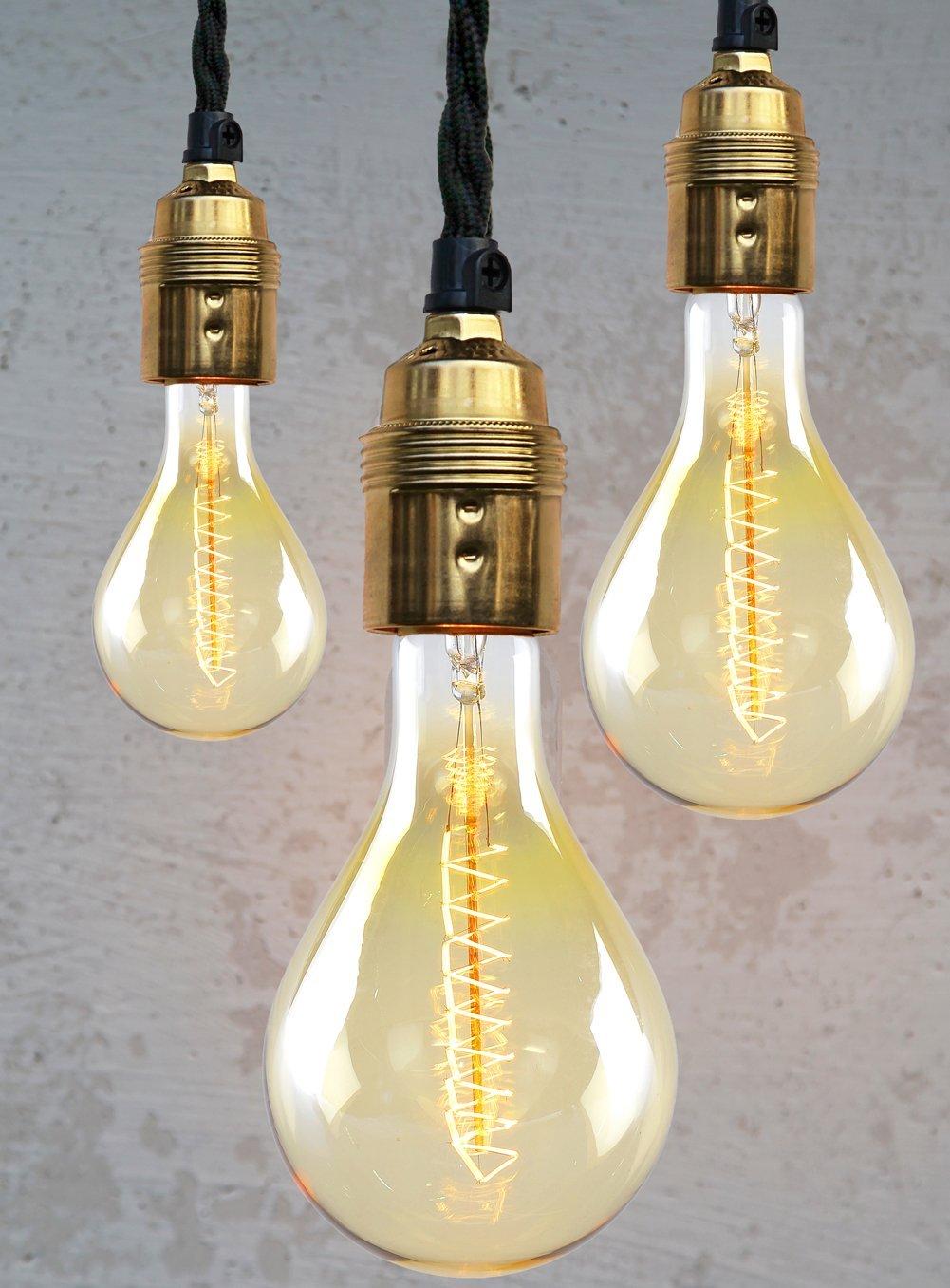 Lampe Glühbirne Retro Look XXL 25 cm