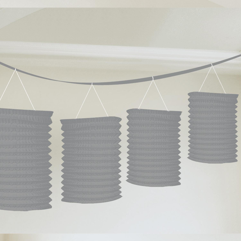 Laternen Girlande 3,6 m mit 8 Laternen silber