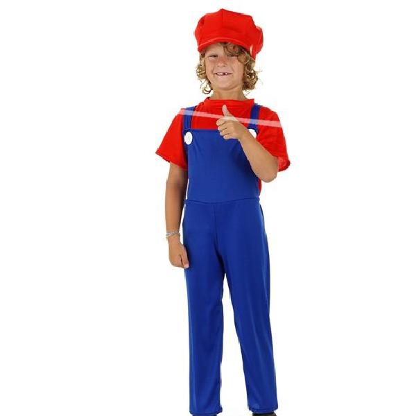 """Kinder Kostüm """"Der Super Klempner""""  Gr.: 116 - 134 cm 6 - 8 Jahre"""