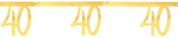 40. Geburtstag Party Wimpelkette Girlande gold  von Santex