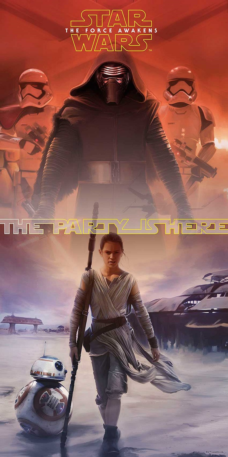 STAR WARS FORCE AWAKENESS Party Türposter