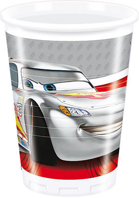 Cars Silver Edition Party Becher
