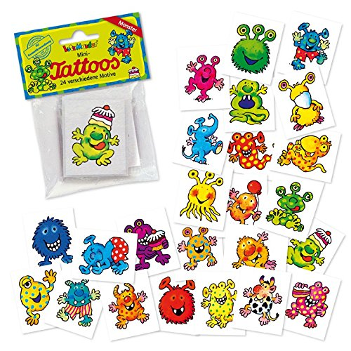 Monster Mini Tattoos Set