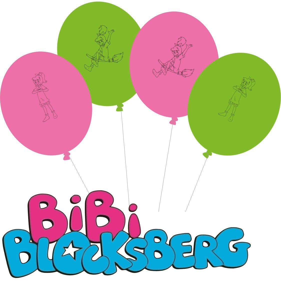 Bibi Blocksberg Party Lutballons