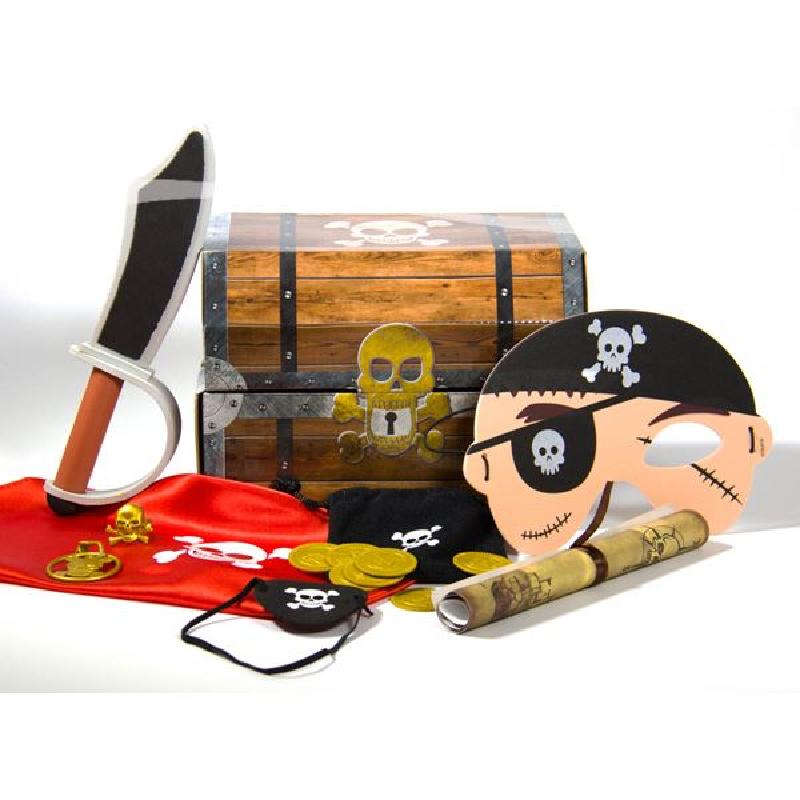 Die Schatztruhe befüllt für alle Piraten