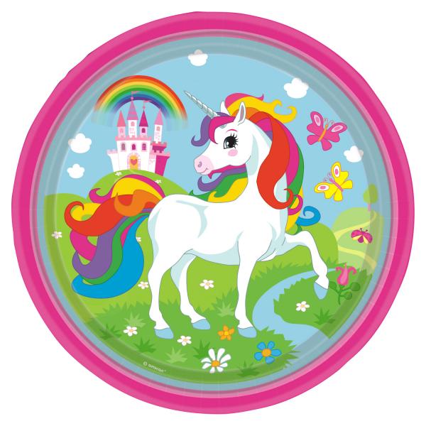 Einhorn Regenbogen Party Teller