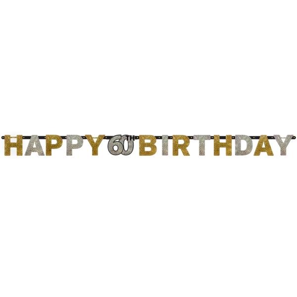 60. Geburtstag Party Girlande Happy Birthday